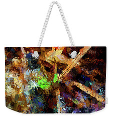 Spring Leaf Abstract Weekender Tote Bag by Aliceann Carlton