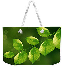 Weekender Tote Bag featuring the painting Spring Life by Veronica Minozzi