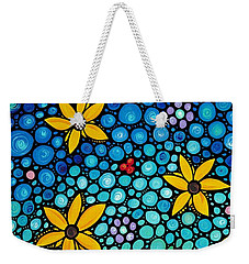 Weekender Tote Bag featuring the painting Spring Maidens by Sharon Cummings