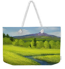 Weekender Tote Bag featuring the painting Spring Meadow Brook by Frank Wilson