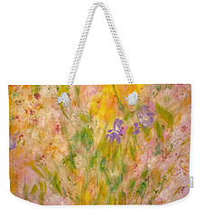 Weekender Tote Bag featuring the painting Spring Meadow by Claire Bull
