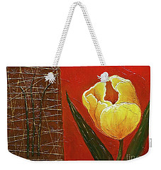 Weekender Tote Bag featuring the painting Spring Messenger by Phyllis Howard