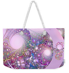 Spring Moon Bubble Fractal Weekender Tote Bag