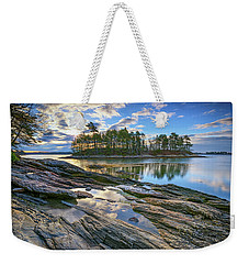 Weekender Tote Bag featuring the photograph Spring Morning At Wolfe's Neck Woods by Rick Berk