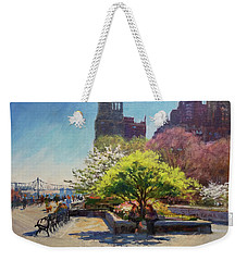 Spring Morning On John Finley Walk Weekender Tote Bag