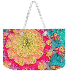 Weekender Tote Bag featuring the digital art Spring On Parade 2 by Bonnie Bruno
