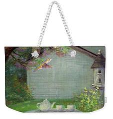 Spring Orchard Teatime Weekender Tote Bag