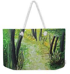 Spring Path Weekender Tote Bag