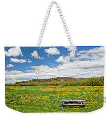 Weekender Tote Bag featuring the photograph Spring Picnic by Alan L Graham