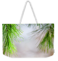 Weekender Tote Bag featuring the photograph Spring Pine Abstract by Christina Rollo