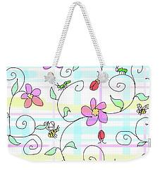 Spring Plaid Weekender Tote Bag