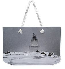 Spring Point Ledge Lighthouse Blizzard Weekender Tote Bag