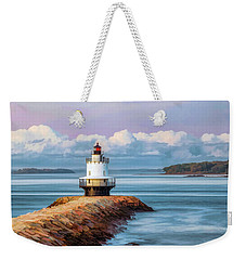Weekender Tote Bag featuring the painting Spring Point Ledge Lighthouse by Christopher Arndt