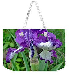 Weekender Tote Bag featuring the photograph Spring Purple Iris by Marsha Heiken