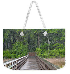 Weekender Tote Bag featuring the photograph Spring Rain by Carol  Bradley