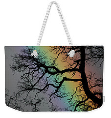 Weekender Tote Bag featuring the photograph Spring Rainbow by Cathie Douglas