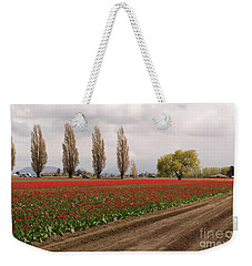 Spring Red Tulip Field Landscape Art Prints Weekender Tote Bag