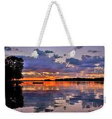 Weekender Tote Bag featuring the photograph Spring Reflections by Lisa Wooten