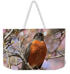 Spring Robin Weekender Tote Bag by Donna Kennedy