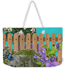 Weekender Tote Bag featuring the digital art Spring Scene by Mary Machare