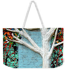 Weekender Tote Bag featuring the painting Spring Serenade With Tree by Genevieve Esson