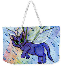 Spring Showers Fairy Cat Weekender Tote Bag