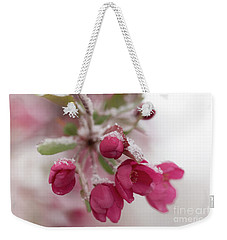 Spring Snow Weekender Tote Bag by Ana V Ramirez