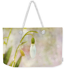 Spring Snowdrops And Bokeh Weekender Tote Bag
