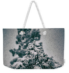Spring Snowstorm On The Treetops Weekender Tote Bag