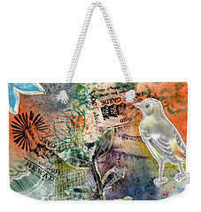 Weekender Tote Bag featuring the mixed media Spring Song by Rose Legge