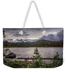 Weekender Tote Bag featuring the photograph Spring Storm At Round Lake by Cat Connor