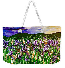 Spring Storm  Iris Fields Weekender Tote Bag