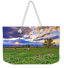 Spring Sunset Over The Rockies Weekender Tote Bag by Scott Mahon