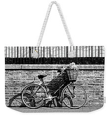 Weekender Tote Bag featuring the photograph Spring Sunshine And Shadows In Black And White by Gill Billington