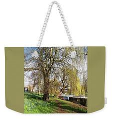 Spring Sunshine On Cambridge Riverbank Weekender Tote Bag by Gill Billington