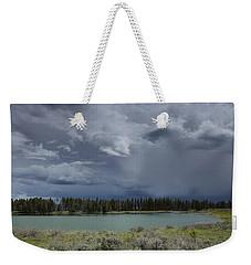Spring Thunderstorm At Yellowstone Weekender Tote Bag