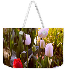 Weekender Tote Bag featuring the photograph Spring Time Tulips by Susanne Van Hulst