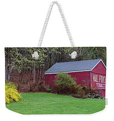 Weekender Tote Bag featuring the photograph Spring Tobacco Barn by Bill Wakeley