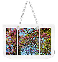 Weekender Tote Bag featuring the photograph Spring Trees  by Elaine Manley