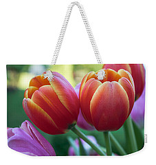 Spring Tulip Bouquet Weekender Tote Bag by Arlene Carmel