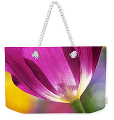 Spring Tulip Weekender Tote Bag by Rona Black
