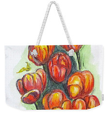 Spring Tulips Weekender Tote Bag by Clyde J Kell