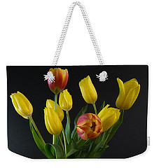 Spring Tulips In Vase Weekender Tote Bag