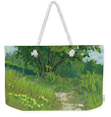 Weekender Tote Bag featuring the painting Spring Walk by David King