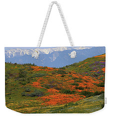 Weekender Tote Bag featuring the photograph Spring Wildflower Display At Diamond Lake In California by Jetson Nguyen