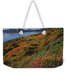 Weekender Tote Bag featuring the photograph Spring Wildflower Season At Diamond Lake In California by Jetson Nguyen