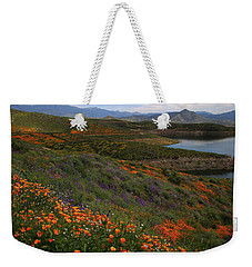 Weekender Tote Bag featuring the photograph Spring Wildflowers At Diamond Lake In California by Jetson Nguyen