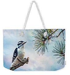 Spring Woodpecker Weekender Tote Bag