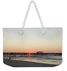 Springmaid Pier Sunrise Weekender Tote Bag