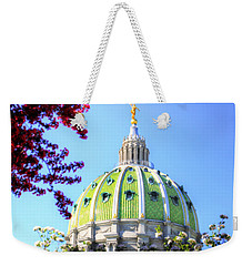 Weekender Tote Bag featuring the photograph Spring's Arrival At The Pennsylvania Capitol by Shelley Neff